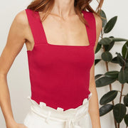 Jasmine Berry Knit Top