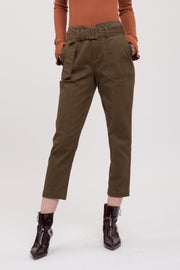 Tapered Pants W/ Belt
