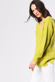 Neon V Neck Jumper