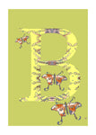 B - Butterfly Alphabet Animal Art Print