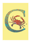 C - Crab Alphabet Animal Art Print