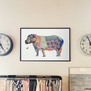 Hippopotamus - Limited Edition Art Print