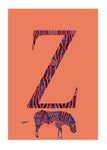 Z - Zebra Alphabet Animal Art Print