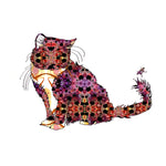 Purple Kitty Art Print