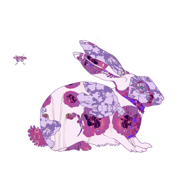 Purple Bunny Art Print