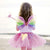 Multicoloured Snazzy Sparkle Wings & Wand Set