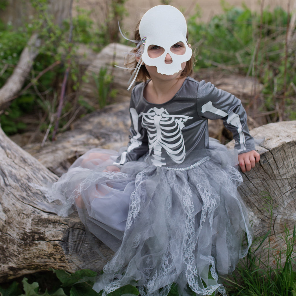 Skeleton Witch Dress with Mask, Size 3-4