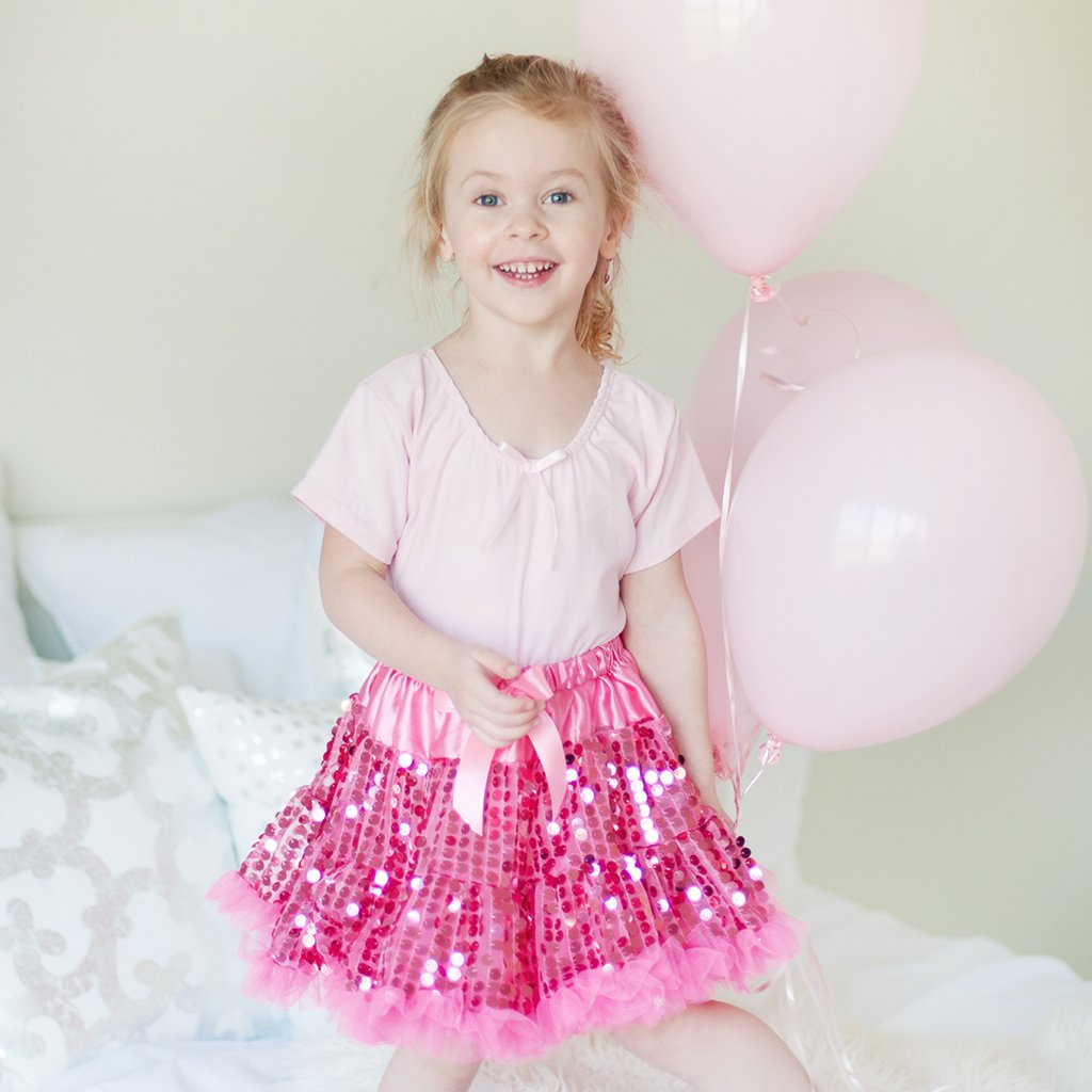 Sequins Sparkle Pink Skirt