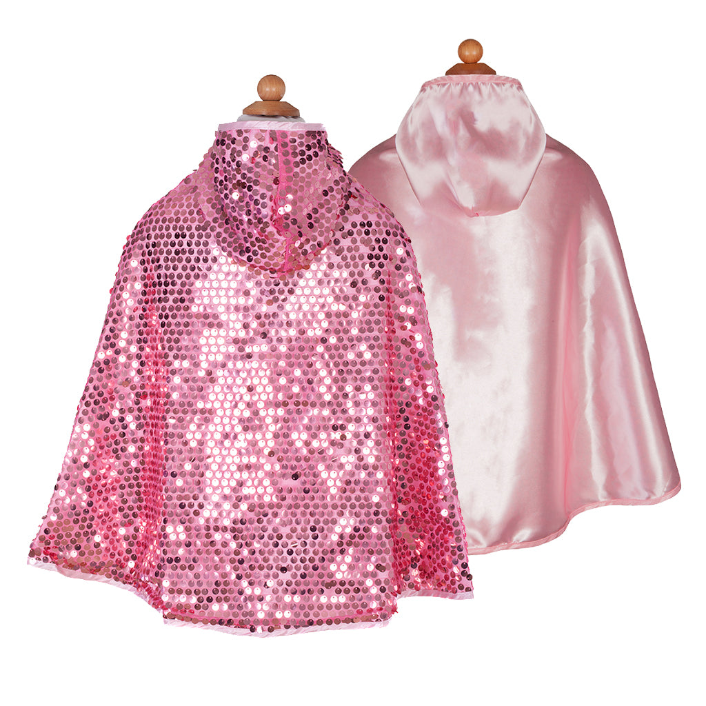 Sequins Sparkle Cape Pink - Great Pretenders