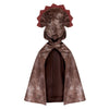 Dino Triceratops Hooded Cape Brown - Great Pretenders