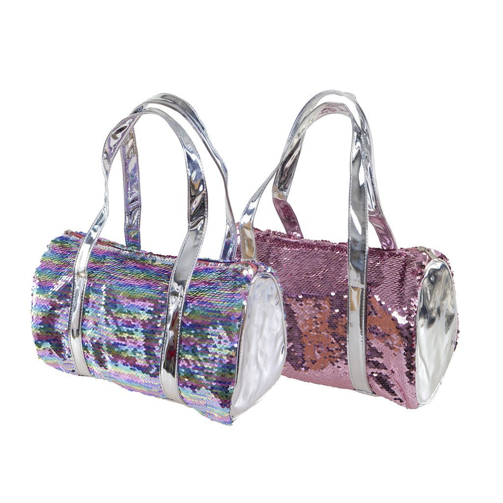 Two-Way Rainbow Sequin Purse