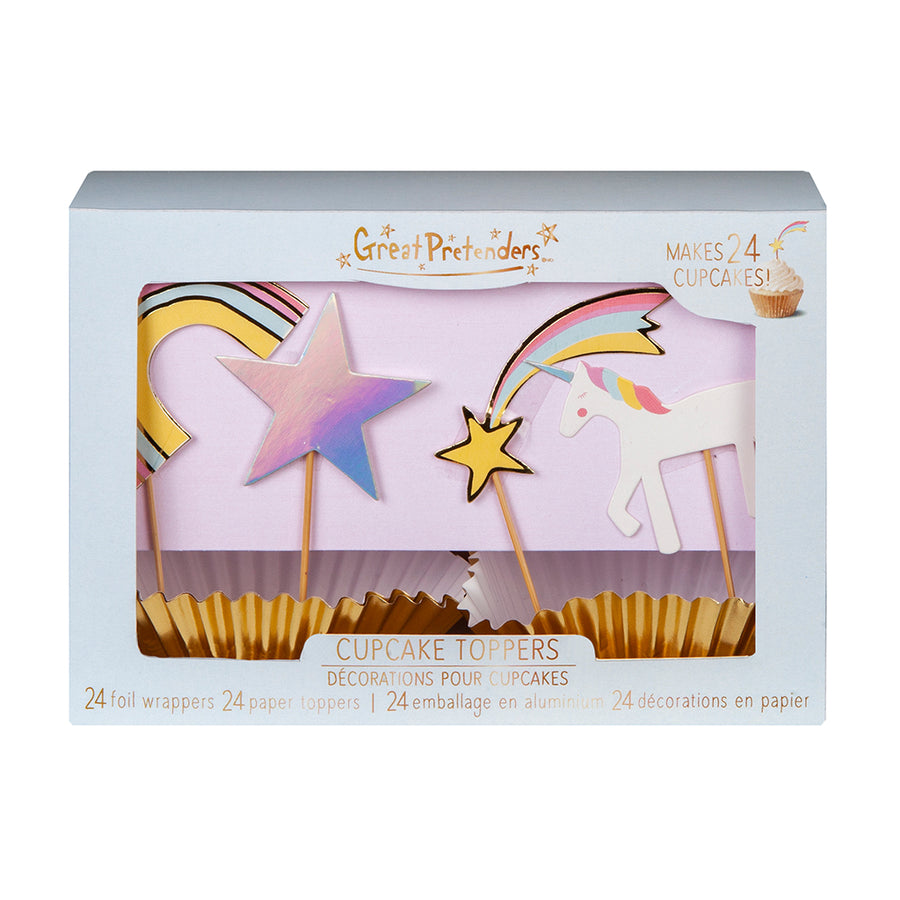 Cupcake Party Toppers - Unicorn (24 pcs)