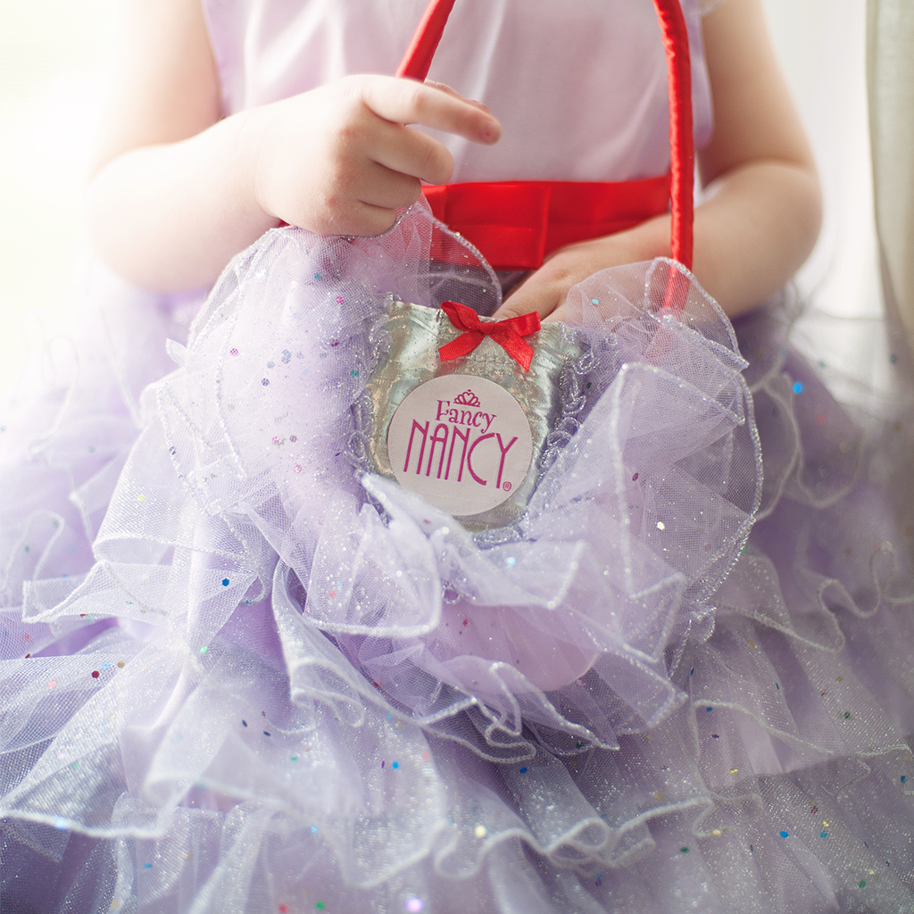 Fancy Nancy Lilac Ruffled Purse