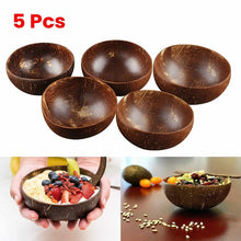 Load image into Gallery viewer, 5Pcs Natural Coconut Bowl, US Warehouse Free Shipping