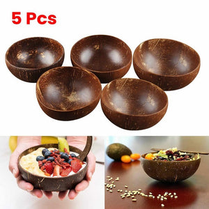 5Pcs Natural Coconut Bowl, US Warehouse Free Shipping