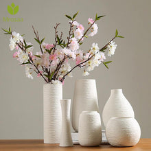 Load image into Gallery viewer, Modern White Ceramic Vase
