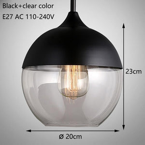 Hanging Glass Pendant Lamps