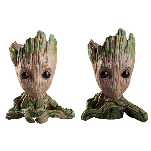 Vinyl Baby Groot Flowerpot Pen Pot Holder