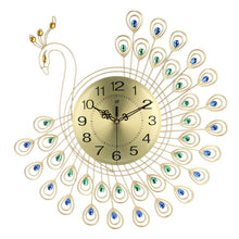 Load image into Gallery viewer, Diamond Peacock Wall Clock