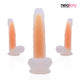 Neojoy - Pure Silicone transparent and luminous Dildo - Orange - lucidtoys.com