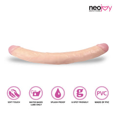 Neojoy Realistic Double-ended Dildo PVC - Flesh 12.2 inch-30 cm 1