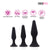 Neojoy Triple Butt plug Set Silicone Black - 3 Sizes