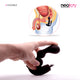 Neojoy G-Spot Double Vibrating Plug Silicone - Black 4.96 inch - 12.6cm
