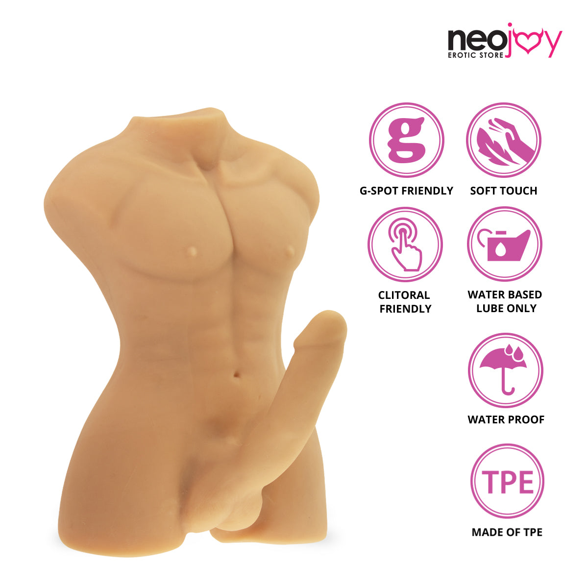 Neojoy Realistic Dildo Male Sex Doll TPE - Flesh 8.9KG 5