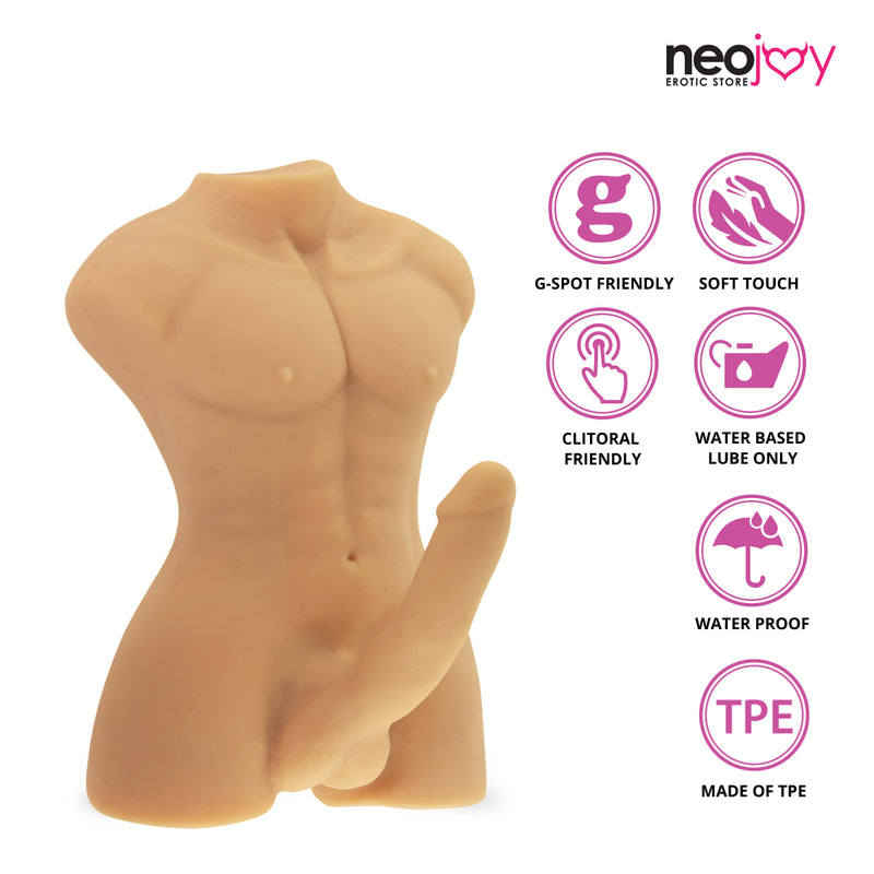 Neojoy Realistic Dildo Male Sex Doll TPE - Flesh 8.9KG 1