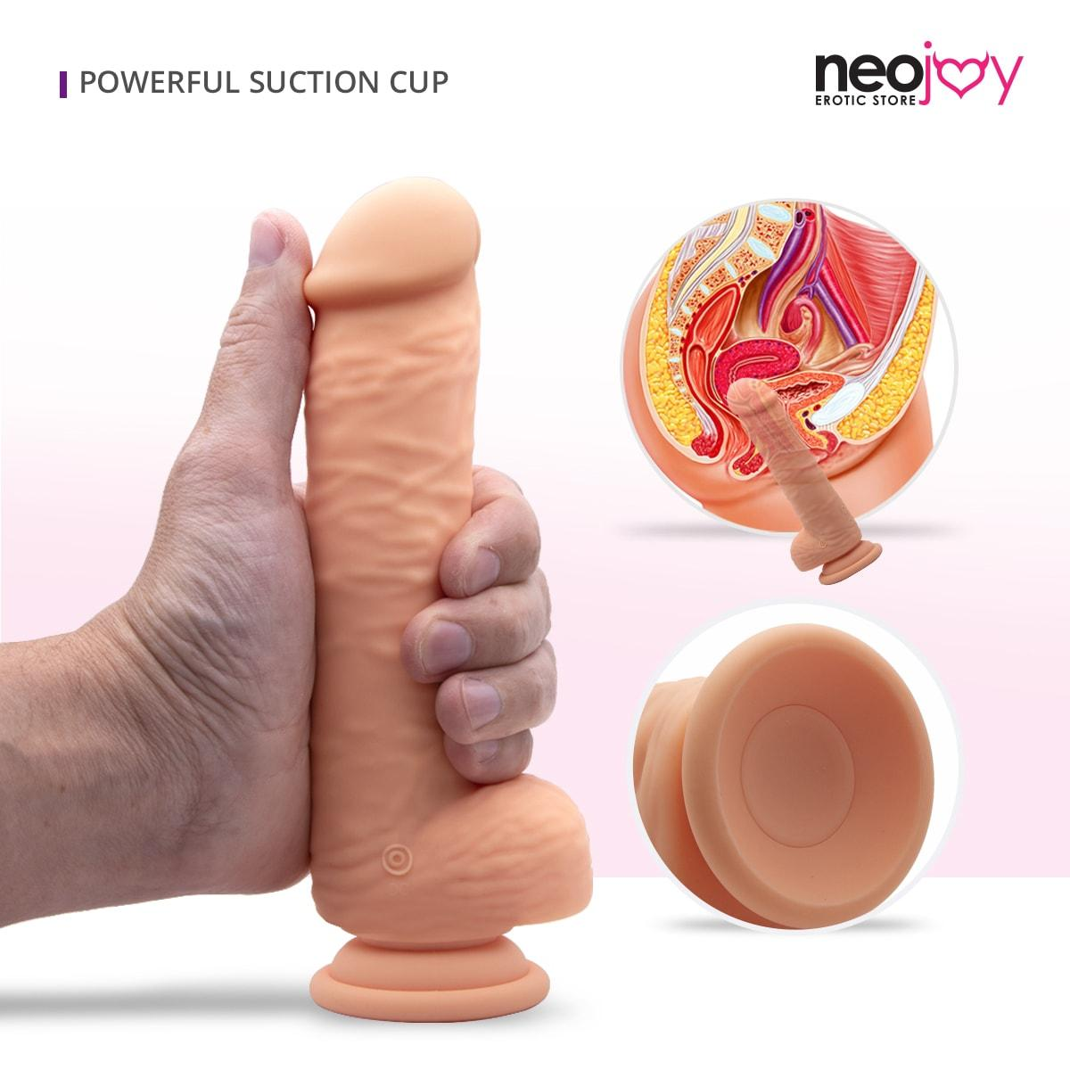 Neojoy Mr. Vibes Skinlike Dong Realistic Dildo Flesh with a Strong Suction Cup 16cm - 6.3 inch Dildos - lucidtoys.com Dildo vibrator sex toy love doll