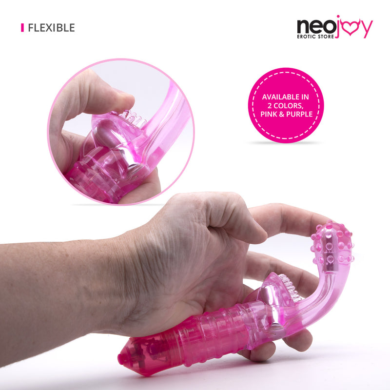 Neojoy G-Clit Jelly Tickler Clitoral Vibrator 10-Speed Functions Soft TPE - Pink G-spot - lucidtoys.com Dildo vibrator sex toy love doll