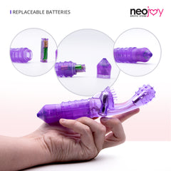 Neojoy G-Clit Tickler 10- Vibration functions Silicone G-spot Clitoral Vibartor - Purple G-spot - lucidtoys.com Dildo vibrator sex toy love doll