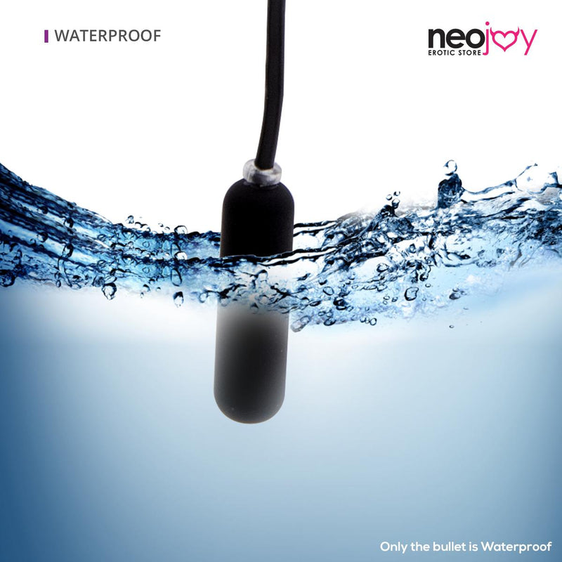 Neojoy Bullet Egg Clitoral Vibrator 10-Speed Functions Soft ABS - Black Bullet - lucidtoys.com Dildo vibrator sex toy love doll