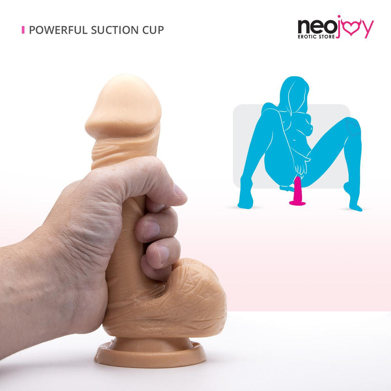 Neojoy Realistic Dildo TPE With Suction Cup - Flesh 7.4 inch -19cm 1