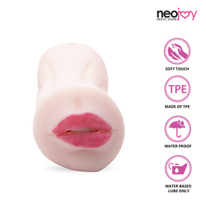 Neojoy Double Mouth Pocket Pussy TPE Realistic Vagina & Ass - Flesh Realistic Vaginas - lucidtoys.com Dildo vibrator sex toy love doll