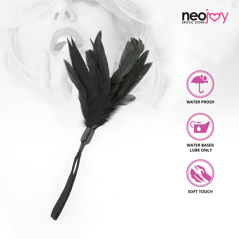 Neojoy Feathers Tickler BDSM play - Black 11.81 inch - 30 cm 1