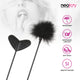 Neojoy Feather Fluffy Crop Tickler Double Ended With Silicone & Feathers - Black 16.14 inch - 41cm 7