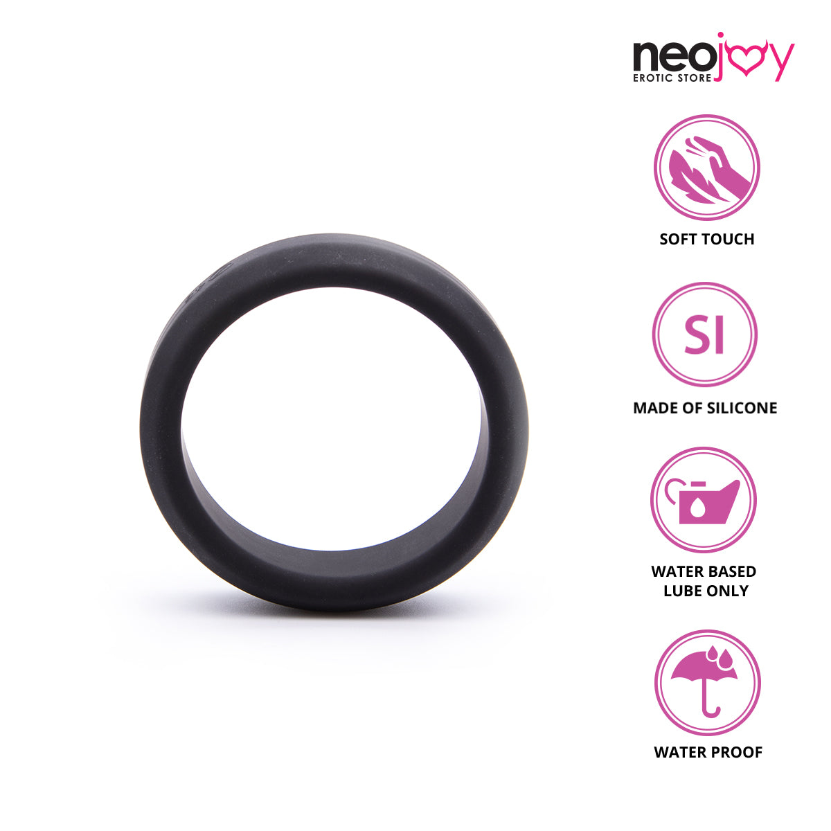 Neojoy SilP-Ring Premium Silicone Cock Ring to Enhance Longer Sex Time - L Cock rings - lucidtoys.com Dildo vibrator sex toy love doll