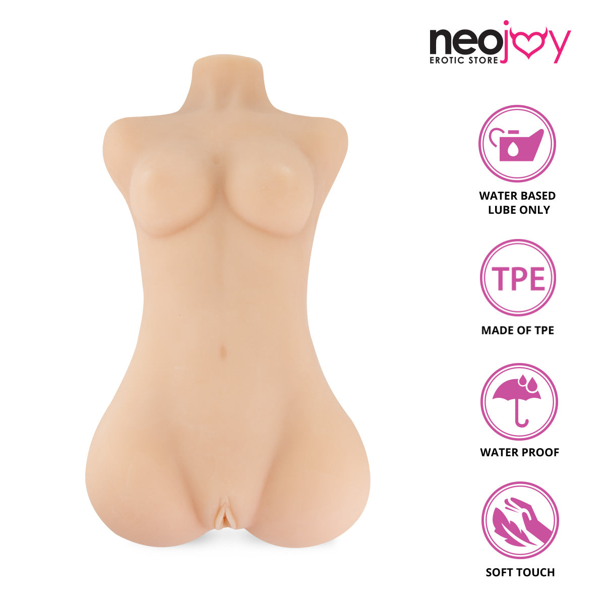 Neojoy Mini Body Realistic Vagina & Ass Sex Doll With Internal Frame - Medium 6kg Realistic Vaginas - lucidtoys.com Dildo vibrator sex toy love doll