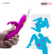 Dildo Clit Rider Rabbit Vibrator | Magnetic Rechargeable | Neojoy-Position
