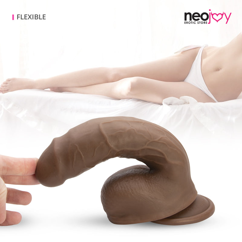 Neojoy - Dangerous Lover - Realistic Dildo with Strong Suction Cup and Balls - Lifelike G-spot Anal Penetration Sex Toy