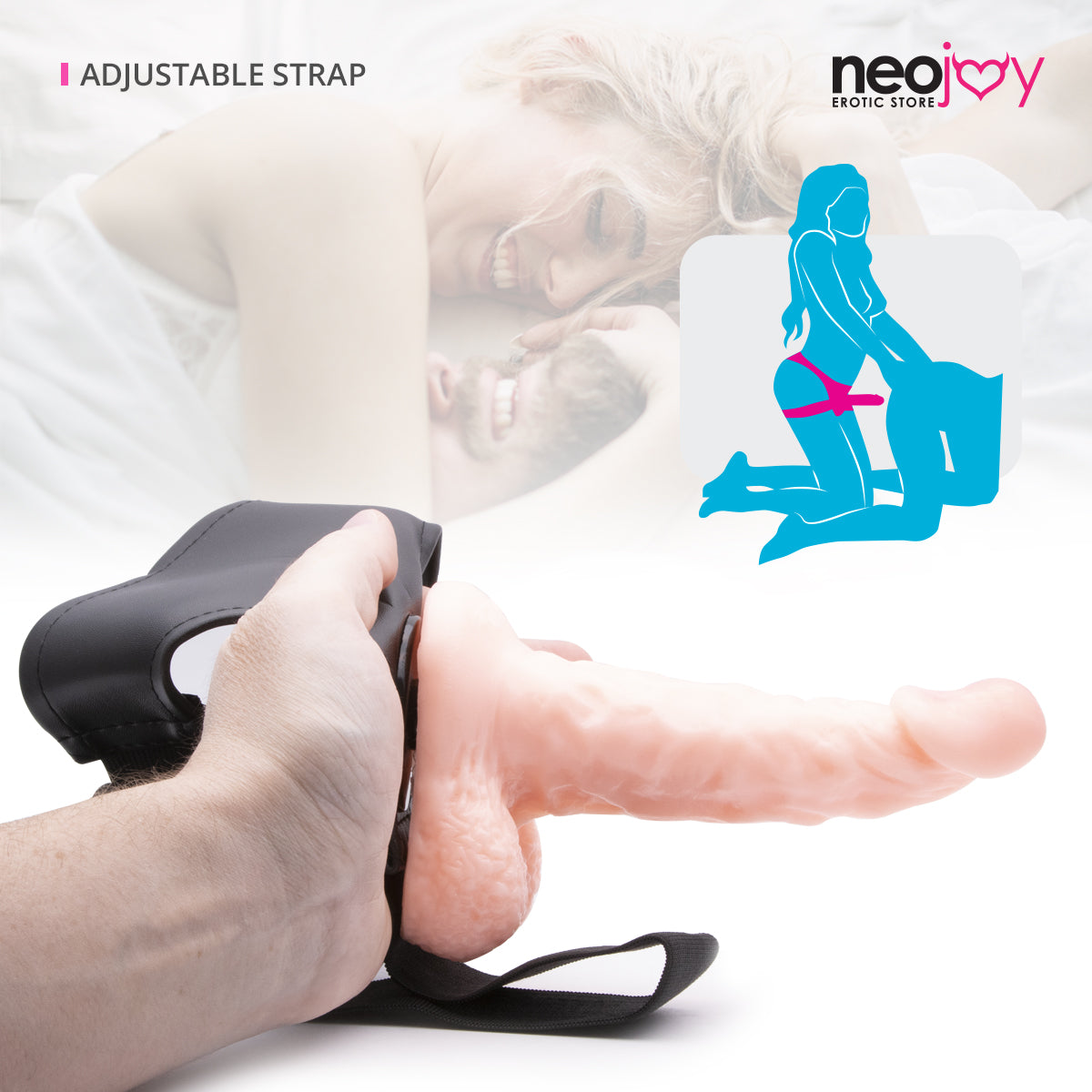 Neojoy - Life-like Harness - Realistic Dildo Strap-On Harness - 16cm - 6.29 inch