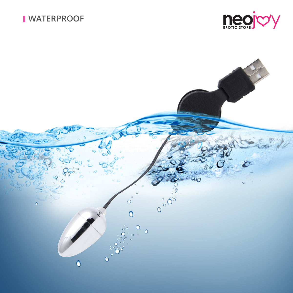 Neojoy Small Silver Bullet - USB Plug Bullet Vibrator - Clitoral Anal Vaginal Stimulation - Spring-back Wire Adult Sex Toy