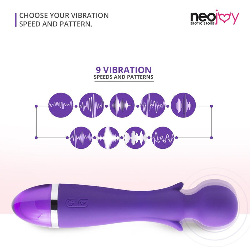 NeoJoy 9 Function Wand - Purple