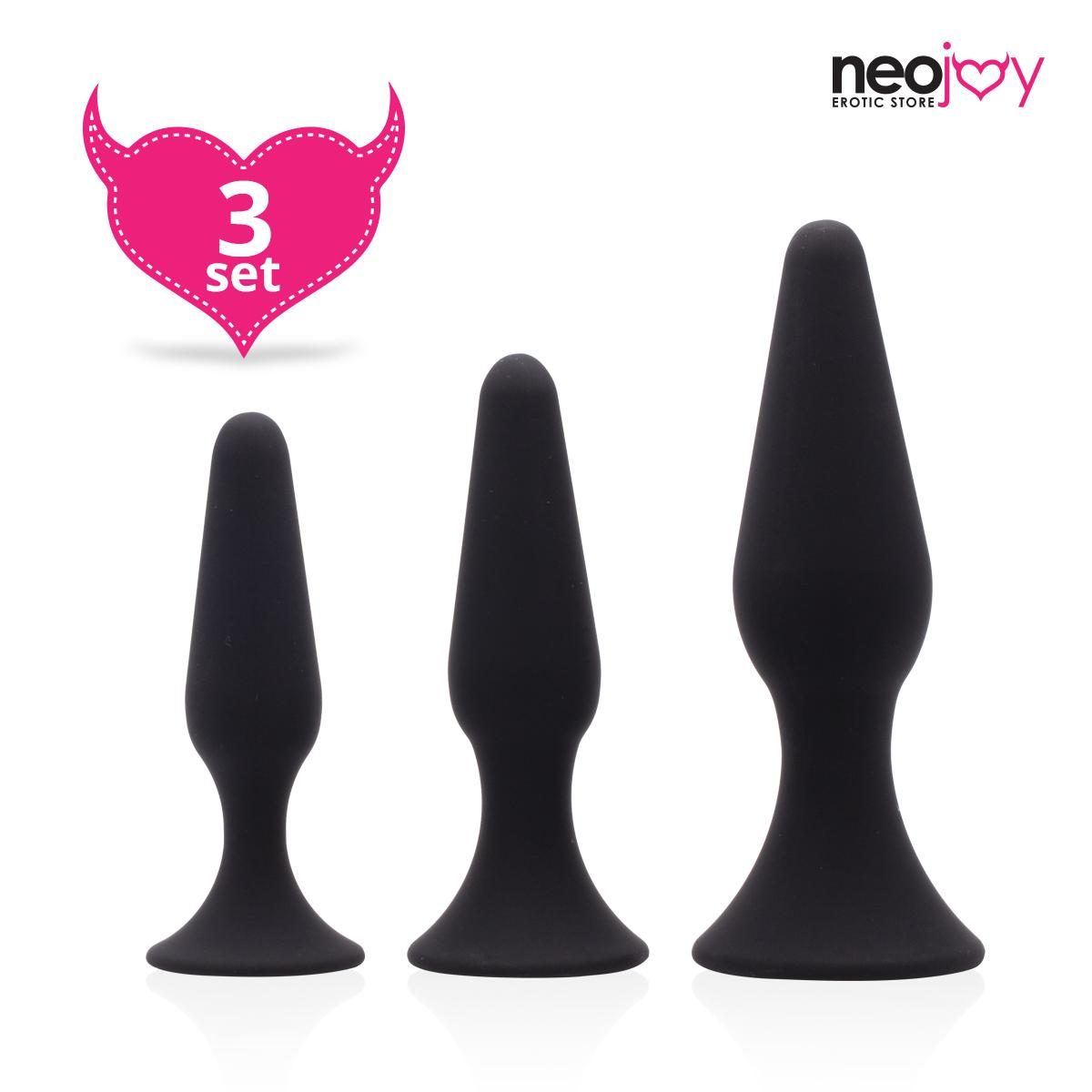 Neojoy Triple Butt Plug set - 3 sizes