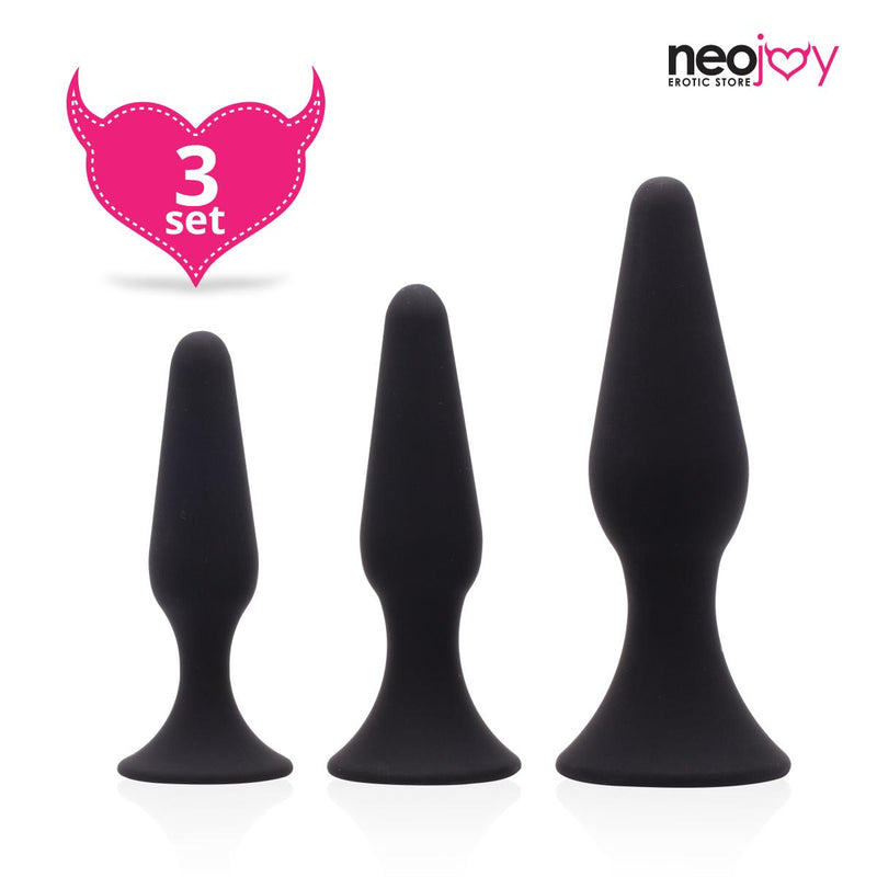 Neojoy 3 sizes silicone Anal Plugs
