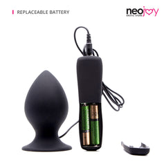 Neojoy - Vibrating Smooth Anal Plug (Black)