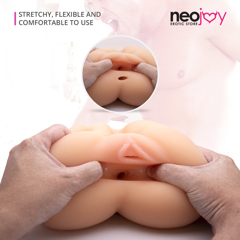Neojoy Realistic Miss Derriere Sex Doll Stroker with Butt & Vagina TPE Flesh - Small 2.17Kg