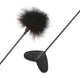 Neojoy Feather Fluffy Crop Tickler Double Ended With Silicone & Feathers - Black 16.14 inch - 41cm 1