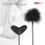 Neojoy Feather Fluffy Crop Tickler Double Ended With Silicone & Feathers - Black 16.14 inch - 41cm 2